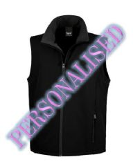 NRG MENS SOFTSHELL BODYWARMER WITH EMBROIDERED LOGO & PERSONALISED